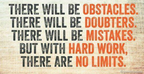 Inspiration: There Will Be Obstacles